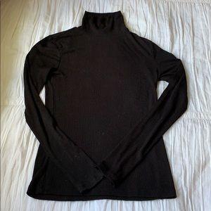 Forever 21 Black Tight Knit Turtleneck